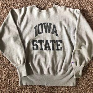 Vintage Iowa State Reverse Weave Champion Crewneck